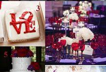 Red & Purple / Red & Purple wedding theme with natural confetti ideas from The confetti cone company www.confetti-cones.co.uk