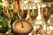 Happy New Year / I love all the symbols and traditions of New Years.  The clock striking midnight, Auld Lang Syne, the decorations, cocktails, foods....  and I always think of my sweetheart on New Years Eve.