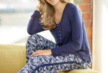 Florence Broadhurst Sleepwear- Fans / Fans on Polished Cotton