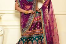 Indian wedding A-line lehenga / A-line lehengas are particularly great for tall women.