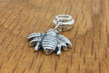 Handmade Silver Pandora style charms / Handmade silver pandora style charms