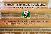 Anti-slip safety step tapes