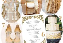 Going for Gold / Gold themed wedding ideas