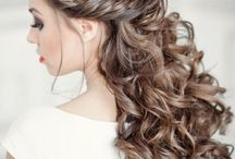Hair for bridesmaids