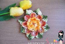 FLORES A CROCHET/FLOWERS CROCHET