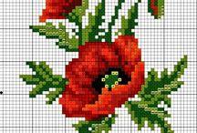 cross stitch - poppies
