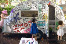 Colour-in Caravan / A Colour-in Caravan you can hire for children's parties