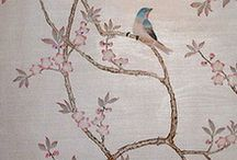 silver leaf chinoiserie wallpaper