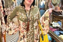 Bohemian Inspired Fashion Steph rocking our Hannah tunic bell sleeve dress!  Buy in store or online www.chunkyarmadillo.com