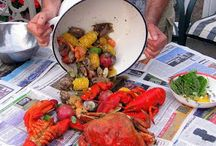 Seafood Boils & Bakes / If you are having a party with a large group of people, invite guests to roll up their sleeves and enjoy some casual fun while savoring seafood delights! There is no better way to get the party started than with a seafood boil or bake in the great outdoors!