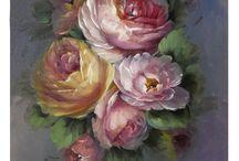 Pinturas D.J. / Flores, bodegones paisajes, en diferentes técnicas