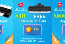 Gift Card Offer / Get Assured #GiftCard from Apple, #ShellGas and #WalMart on purchase of #SwinglineGBC Fusion #Laminators.  Valid Till Stock Last. For detailed information click on the link: http://goo.gl/kUKxzl