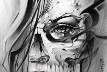 Face women tattoo