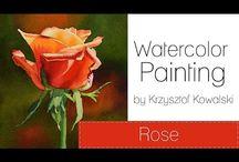 Watercolours by Krzystof Kowalski