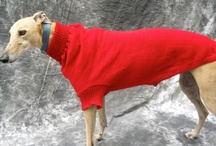 Greyhound sweaters / These are some sweaters that I make for greyhounds.