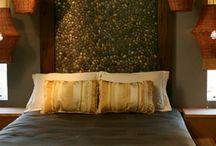 Bettkopfteil aus steinen