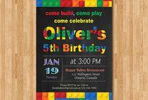 Building blocks birthday party