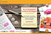 DIY Blogger-Contest / Union Knopf, Lana Grossa, Swafing Stoffe und Mollie Makes suchen Deutschlands kreativsten Blogger! Du nähst, bastelst oder strickst gerne? Du liebst es individuelle Styles zu kreieren? Du hast einen Blog, eine Facebook-Seite oder bist in einem anderen Social-Media-Medium aktiv und berichtest über deine DIY-Projekte...?   Die 20 Finalisten stehen fest! Ab sofort ist die Pinnwand für alle 20 Finalisten eröffnet! Let's pin!