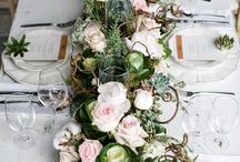 Floral Table Runners & Chandeliers