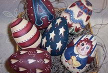 gourds --- eggs / goose eggs / by Pamela Knowles