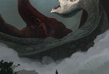 Dragons&art / all about dragons: dragons art, dragons painting tutorials, green deagons, black dragons and vyverns