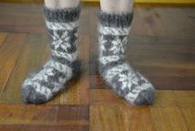 Hand Knit socks / Hand-knitted socks made of goat down production in Russia.You can see and buy in my Ebay, links under each photo - welcome.