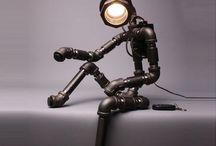 Lampe aus Rohre