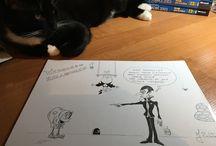 Kurczaki / Moje rysunki z kurczakami ;)