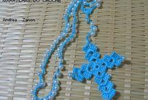 Rosário de crochê