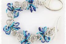 Bracelets Chainmaille / My own creations  Bracelets en Aluminium / Aluminium bracelets