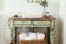 Salle de bain / Look de salle de bain vintage