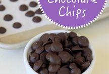 Homemade chocolate bits
