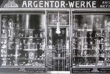 Argentor Werke Rust & Hetzel Vienna / The Argentor-Werke was a traditional silverware manufacturer in Vienna, Austria. It was founded in 1902 and was an imperial and royal warrant holder. The company closed around 1970.