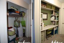 Closet homework space