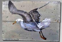 Art/schilderen op Steigerhout