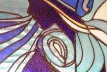 tiffany glas kunst / met koperfolie bewerken