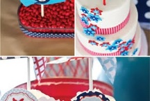 Red, White + Blue / Co-hosted by Samantha Conner, author of Home Decor/Craft Blog Crafty Texas Girls and Designer/Owner of Samantha Conner Designs: Fabulous Clothing and Apparel for Girls.