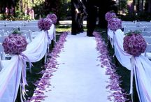 Floral Inspiration / Incorporating greenery and floral color in your ceremony decorations