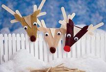 Christmas Popsicle Sticks Ornaments / Christmas Popsicle Sticks Ornaments