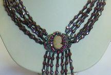 collane miste 2 / collane fatte a mano, con perline in crystallo e mezzo crystallo