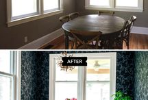Before & After / Sharing Before and After Wallpaper Projects. Oh, what a difference wallpaper can make! / by Hygge & West