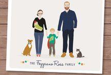 Rodinný portrét-kresba