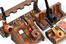 Smoking pipes display, pipe stand