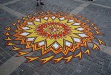 Sand Paintings / Temporary Urban Art / by Debbie Green