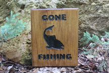 routed wood signs