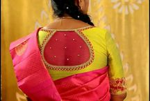 Saree color combination