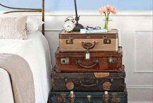 Old retro suitcases