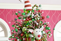 Felt Elf Hat Tree Topper / Wonderfully fun and adorable felt and fabric elf hat Christmas tree toppers.