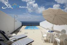 Residencial Cortijo Mar - Villa Sunny Puerto Calero - Lanzarote - Spain / These attractive, three story, three bedroom villas are located in the exclusive marina of Puerto Calero in a frontline position with fabulous views to the sea.