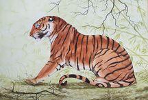 Beauté royale : le Tigre / Le Tigre est un animal légendaire. Il hante l'Imaginaire des Hommes plus qu'il ne hante désormais les forêts asiatiques. L'animal est en constante régression un peu partout en Asie. J'espère qu'il ne finira pas par disparaître comme beaucoup d'autres espèces car la Terre aura alors perdu une de ses plus belles créatures. / by Alain Bignet